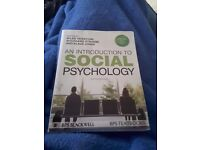 An Introduction to Social Psychology. Very good condition.