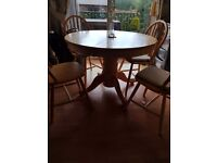 Cottage style dining table and 4 chairs. Free to anyone who can collect.