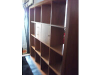 Soild wood cube 4x4 bookcase/room divider cost £1150