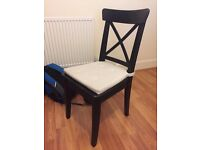 Black IKEA chair. Condition NEW. Cushion included.