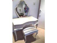 Vintage dressing table & stool