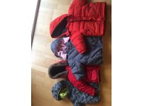 Selection of unisex kids winter jackets