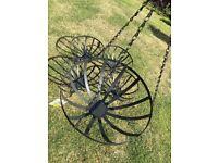 Five Contemporary Looking Lightweight Black Metal Hanging Basket Planters