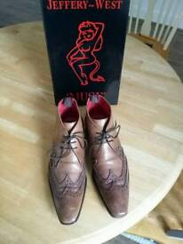 Jeffery West Muse( Scarface) Double brougue boots size 9
