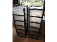 Plastic storage units trays/boxes