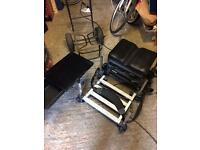 Fishing tackle box and seat and trolley