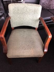 Beautiful 60's solid wood armchair