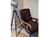 Quirky Dark Brown Button Back Chair