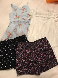 Girls dress and short bundle in age 5 (next/tu/nutmeg)