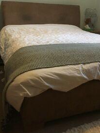 King size suede bed frame (Stuart jones)