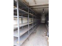 Good quality shelving need clearing immediatly