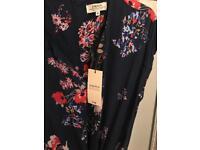 Navy floral jumpsuit