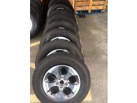 Jeep Wrangler Alloy Wheels With Tyres Polished Chrome Bulk Sale