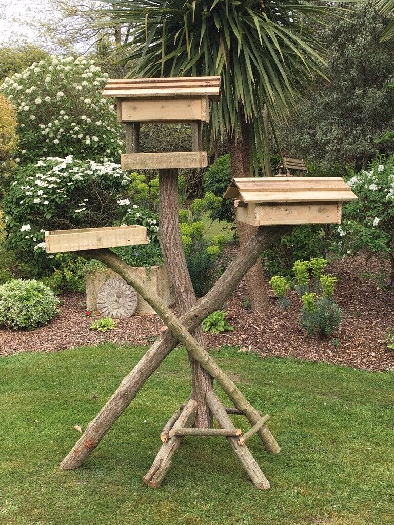 Rustic Wild Bird Table With 2 Nesting Boxes 2 Feeding Stations Lovely Handcrafted Quality B New In Wimborne Dorset Gumtree