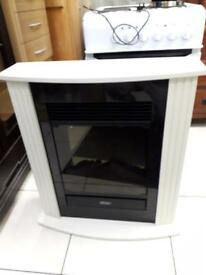 Brand new white & black electric fire £85-we removed this from the box