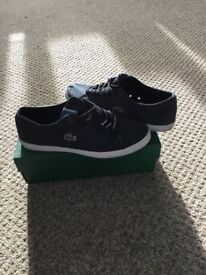 Lacoste trainers, mens size 9. Worn once for around one hour