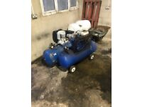 Petrol / electric air compressors and workshop tools and equipment