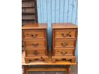 Pair Of solid pine bedside drawers / tables / bedsides in Antique Pine