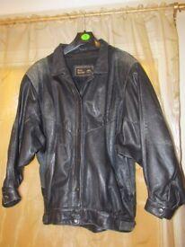 Ladies genuine black leather jacket, size 12