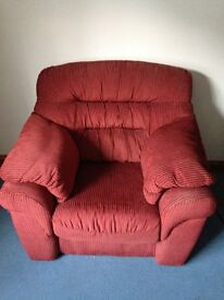 Free- Two terracotta armchairs