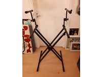 Tiger Double Keyboard Stand - Great Condition