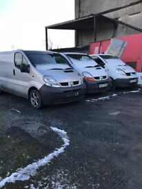 Vivaro traffic primastar vans for breaking everything cheap to clear