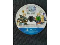 World of final fantasy disc only ps4