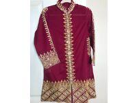 Deep Red Pakistani Ladies Kameez/Kurti, Size S&M. 100% Genuine, Eid/Ramadan Suit