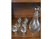Sherry glasses and Decanter