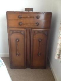 Vintage 1940's dresser & wardrobe.