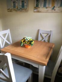 Debenhams Solid Wood table Chairs