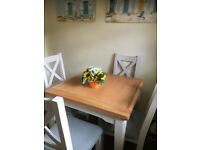 Debenhams Solid Wood table Chairs