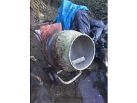 Concrete mixer large drum 240 volt