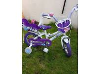 Girls bike with basket and dolls seat