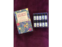 Essential aromatherapy oils and book