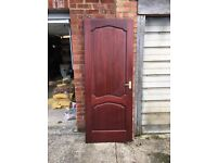 Six matching solid mahogany internal doors