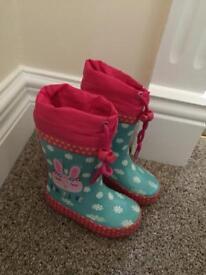Size 5 infant girl wellington boots wellies