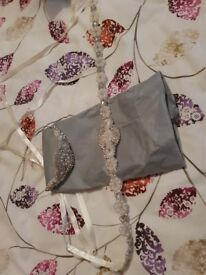 Wedding sash belt and headpiece