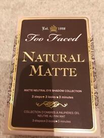 "BRAND NEW ""Too Faced"" natural matte eyeshadow palette"