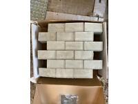 White glittery bathroom tiles