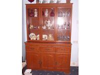 Large display cabinet with drawers and cupboards