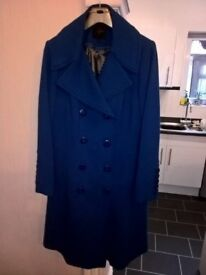 JASPER CONRAN Ladies Royal Blue Coat 18s Immaculate condition worn twice.