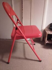 Red Foldable Metal Chair
