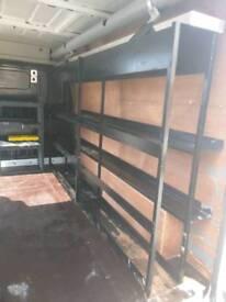 Inner racking for van, plasterers racking with copper pipe tube
