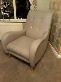 DFS Grey Armchair **Excellent condition ***