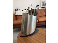 Brand new GLOBAL stainless steel Knife block