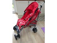 Obaby Atlas Stoller/Buggy/Pram (Red Scribble) Good Condition ** only £15 **
