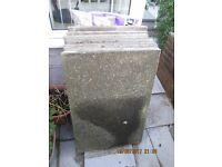 7 concrete paving slabs measuring 3'x2'