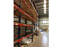 job lot 58 bays of pallet racking with wood! AS NEW( storage , shelving )