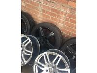 17 inch Audi black 5x112 alloys